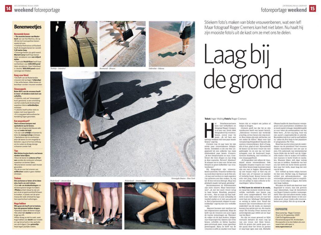 Algemeen Dagblad interview Laag bij de Grond - Roger Cremers