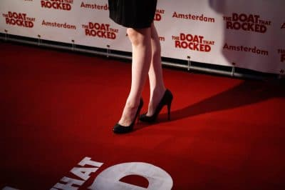 Nederland, Amsterdam, 06-04-2009 Premiere van 'The Boat that Rocks' in het Pathé Tuschinski Theater. Benen over de rode loper PHOTO AND COPYRIGHT ROGER CREMERS