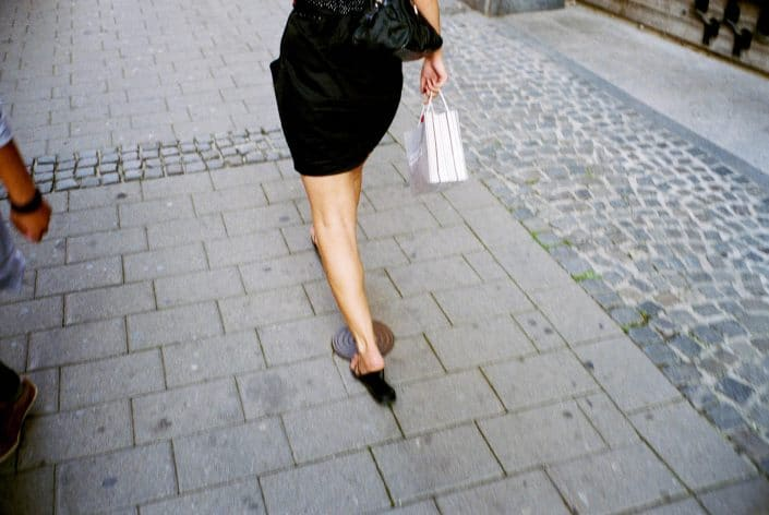 Slovenie, Maribor, 29-08-2011 Beautiful woman legs walking in the streets of Maribor PHOTO AND COPYRIGHT ROGER CREMERS