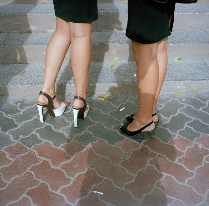 Russia, Volgograd, 01-09-2013 Beautiful high heeled woman legs in the streets of Volgograd PHOTO AND COPYRIGHT ROGER CREMERS