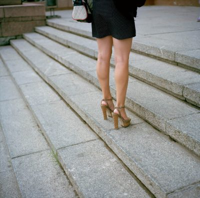 Russia, Volgograd, 09-09-2013 Beautiful high heeled woman legs in the streets of PHOTO AND COPYRIGHT ROGER CREMERS