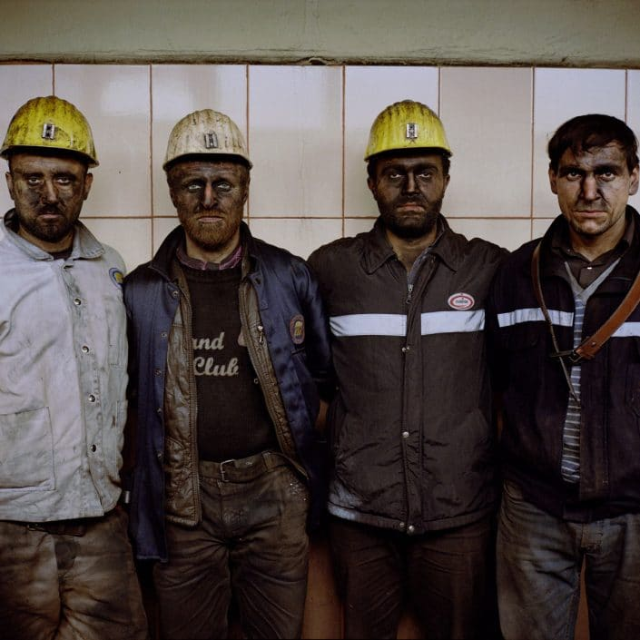 Turkey, Zonguldak, 16-01-2015 KARADON Coalmine, which is property of TTK in Kilimli-Zonguldak. Coalminers after the morning shift posing. PHOTO AND COPYRIGHT ROGER CREMERS