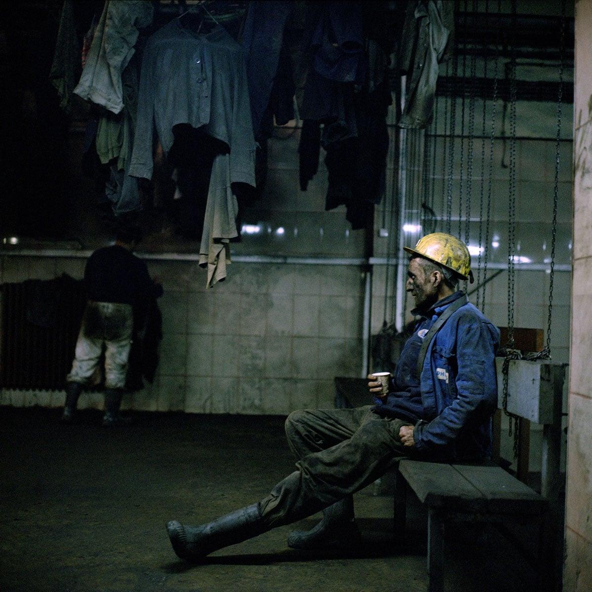 Turkey, Zonguldak, 16-01-2015 KARADON Coalmine, which is property of TTK in Kilimli-Zonguldak. Coalminers after the morning shift posing. PHOTO AND COPYRIGHT ROGER CREMERS