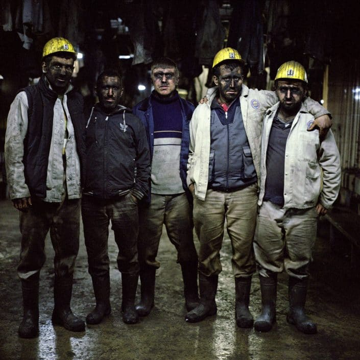 Turkey, Zonguldak, 20-01-2015 KARADON Coalmine, which is property of TTK in Kilimli-Zonguldak. Coalminers after the morning shift posing. PHOTO AND COPYRIGHT ROGER CREMERS
