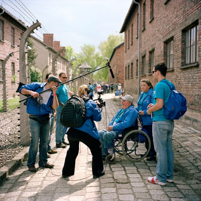 Poland, Auschwitz 2008, Tourist behavior in the former concentration camp Auschwitz-Birkenau Memorial. The days the former camp is a Museum and the biggest tourist attraction of Poland. photo and copyright Roger Cremers