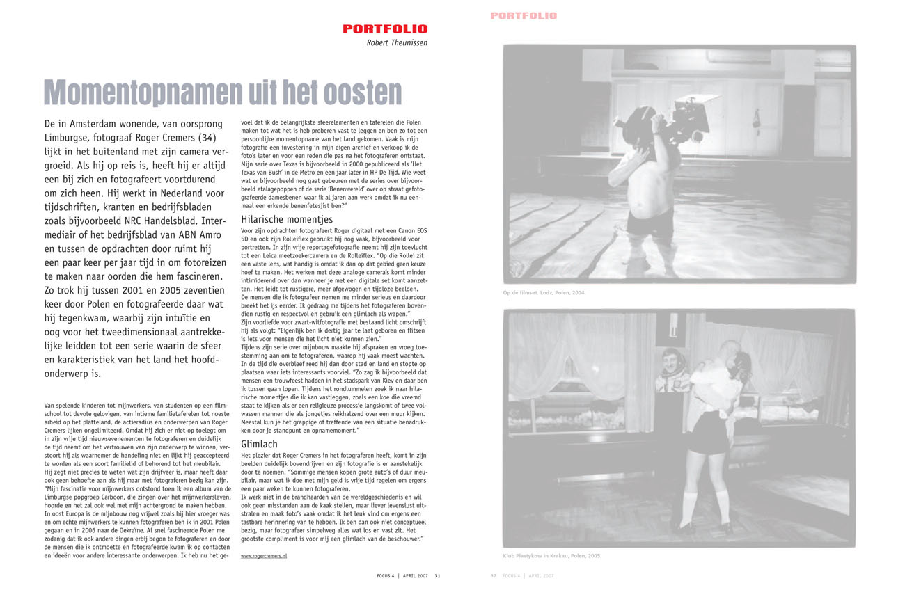 FOCUS interview Roger Cremers 2007