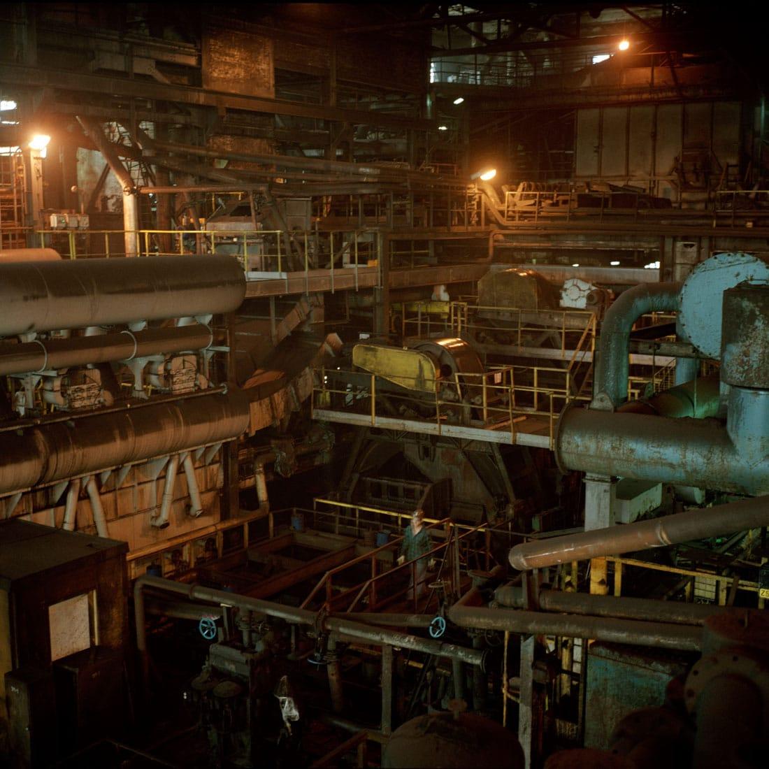Polen, Knurow, 09-05-2008 Steenkolen mijn KWK Szczyglowice in Knurow. De wasserij, Hier worden de kolen op grootte gesorteerd en gewassen. PHOTO AND COPYRIGHT ROGER CREMERS