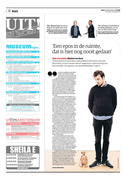 Michiel ten Hoorn in NRC Handelsblad by Roger Cremers 2014