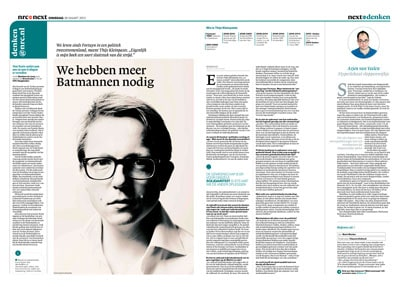 Thijs Kleinpaste in NRC next by Roger Cremers
