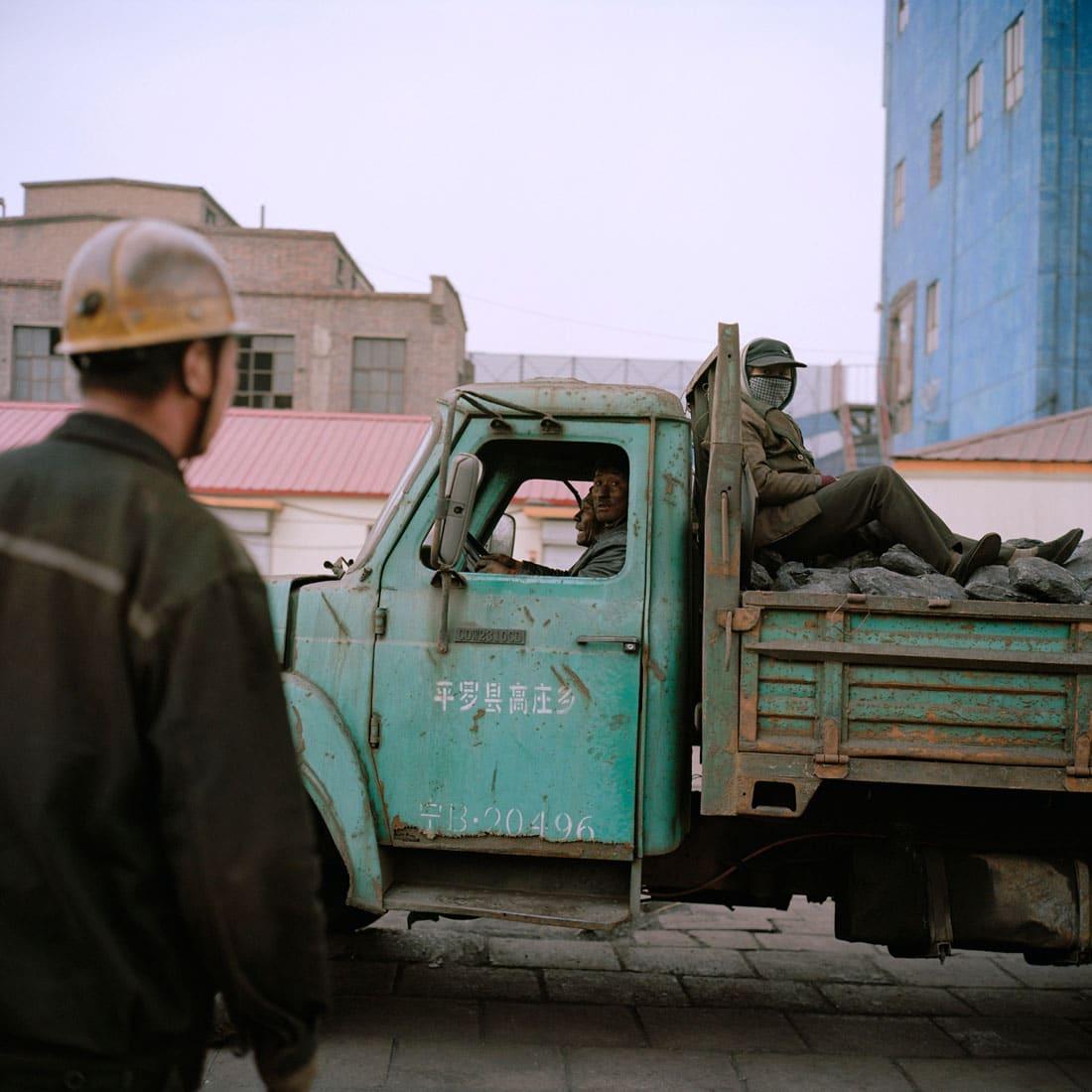China, Binnen Mongolie, Wuda, 10-03-2009 China, Inner Mongolia, Wuda, 10-03-2009 De Wu Hushan steenkolenmijn in Wuda (nabij Wuhai). PHOTO AND COPYRIGHT ROGER CREMERS