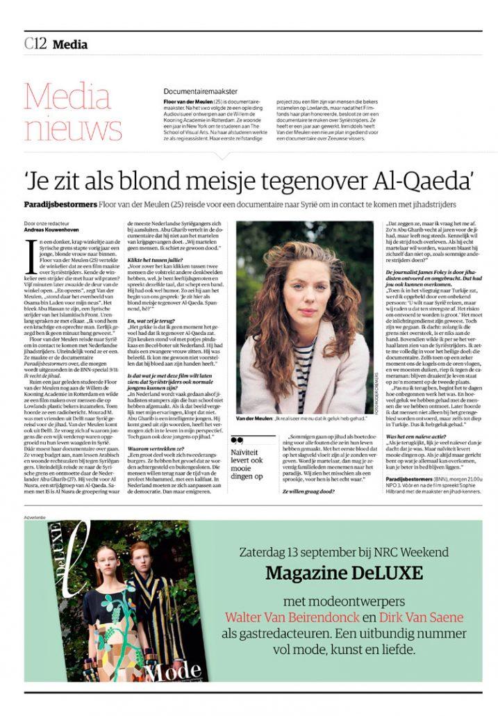 Floor van der Meulen in NRC Handelsblad by Roger Cremers 2014