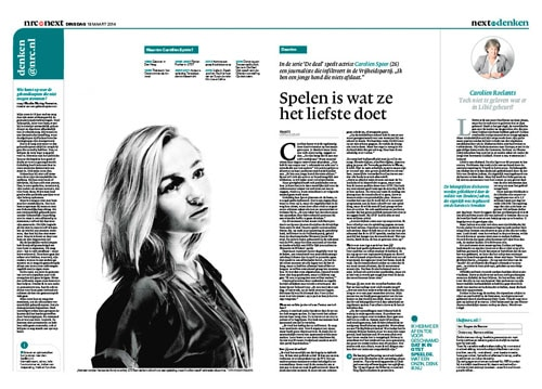 Carolien Spoor in nrc next by Roger Cremers 2014