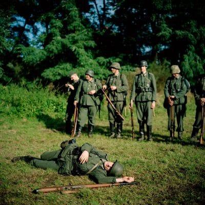 Belgie, Genk, 03-10-2010 Het reenactment evenement 'Operation Kick Off' op het voormalige terrein van de zoo van Zwartberg, georganiseerd door Belgian Living History Association. PHOTO AND COPYRIGHT ROGER CREMERS