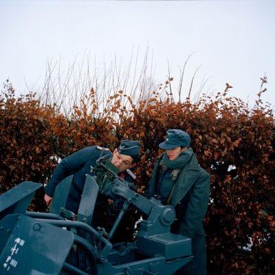 Belgie, Cobru, 11-12-2010 de 66 herdenkingdag van 'The battle of the Bulge', het Ardennenoffensief. In het dorpjes Recogne, een deelgemeente van Bastogne (Bastenaken) wordt door reenactors de slag nagespeeld. In het dorp Recogne bevinden zich de amerikaanse militairen. In het nabijgelegen dorp Cobru liggen de Duitse militairen. Deelnemers komen uit Belgie, nederland, Frankrijk, Polen, Duitsland en Italie. Het evenement wordt georganiseerd door Dutyfirst. PHOTO AND COPYRIGHT ROGER CREMERS