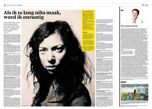 Hanna Bervoets in nrc next by Roger Cremers 2013