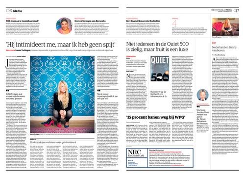 Sanne Terlingen in NRC Handelsblad by Roger Cremers 2013