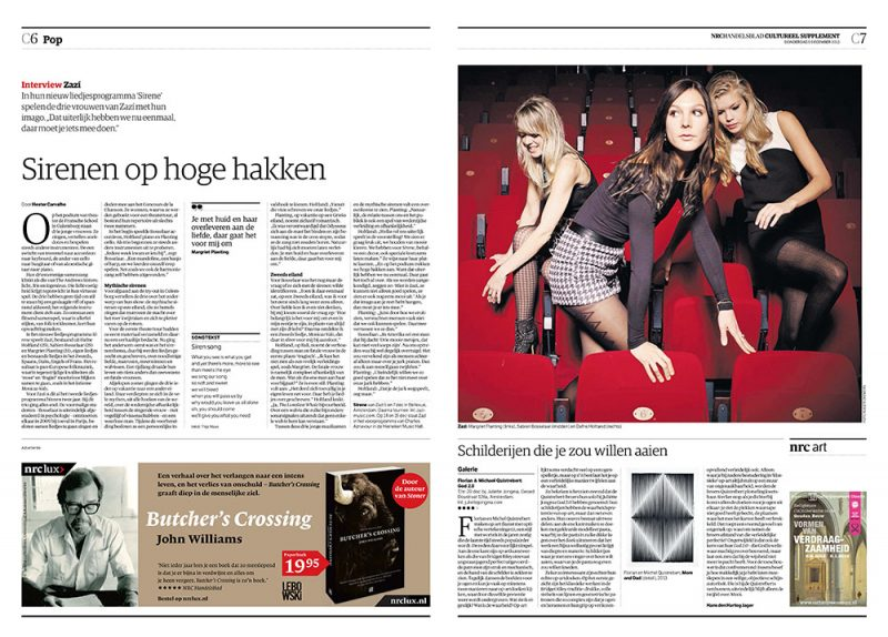 Zazi in NRC Handelsblad Cultureel Supplement
