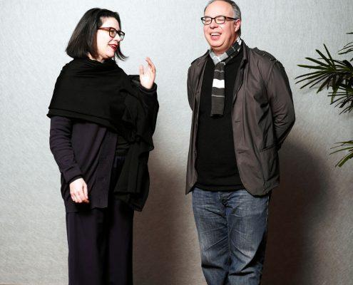 Charles Esche en Ann Goldstein by roger Cremers