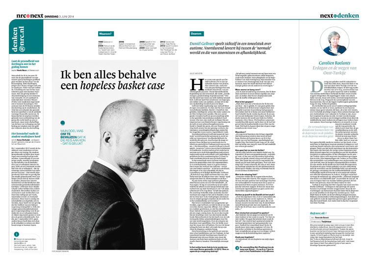 Daniel Gellvoet in nrc next by Roger Cremers