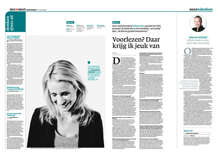 Dionne Stax in nrc next by Roger Cremers 2014