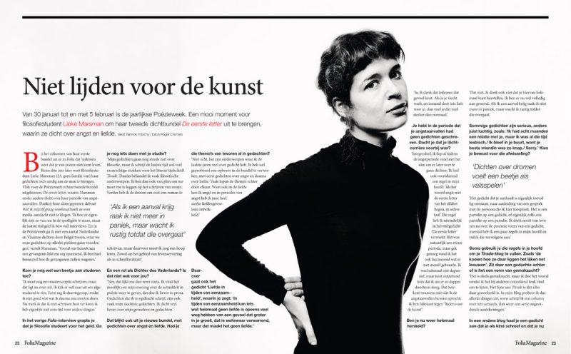 Lieke Marsman by Roger Cremers Folia magazine