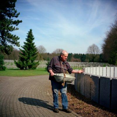 Nederland, Ysselsteyn, 21-03-2011 Begraafplaats voor de meer dan 30000 gevallen Duitse soldaten tijdens 1940/1945 op Nederlands grondgebied PHOTO AND COPYRIGHT ROGER CREMERS