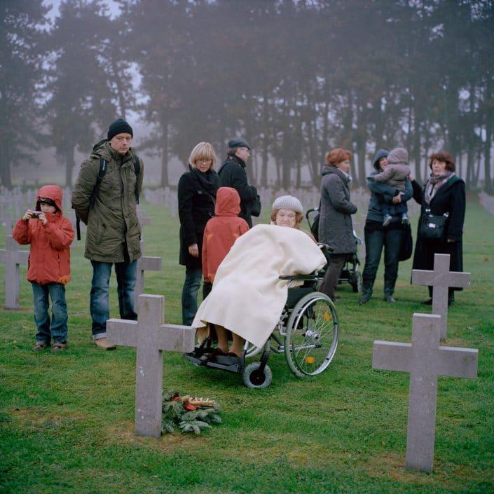 Nederland, Ysselsteyn, 13-11-2011 De Duitse militaire begraafplaats in Ysselsteyn (Limburg) is de grootste militaire begraafplaats in Nederland. Het is de enige Duitse militaire begraafplaats in Nederland. Er liggen voornamelijk omgekomen Duitse militairen van de Tweede Wereldoorlog begraven. PHOTO AND COPYRIGHT ROGER CREMERS