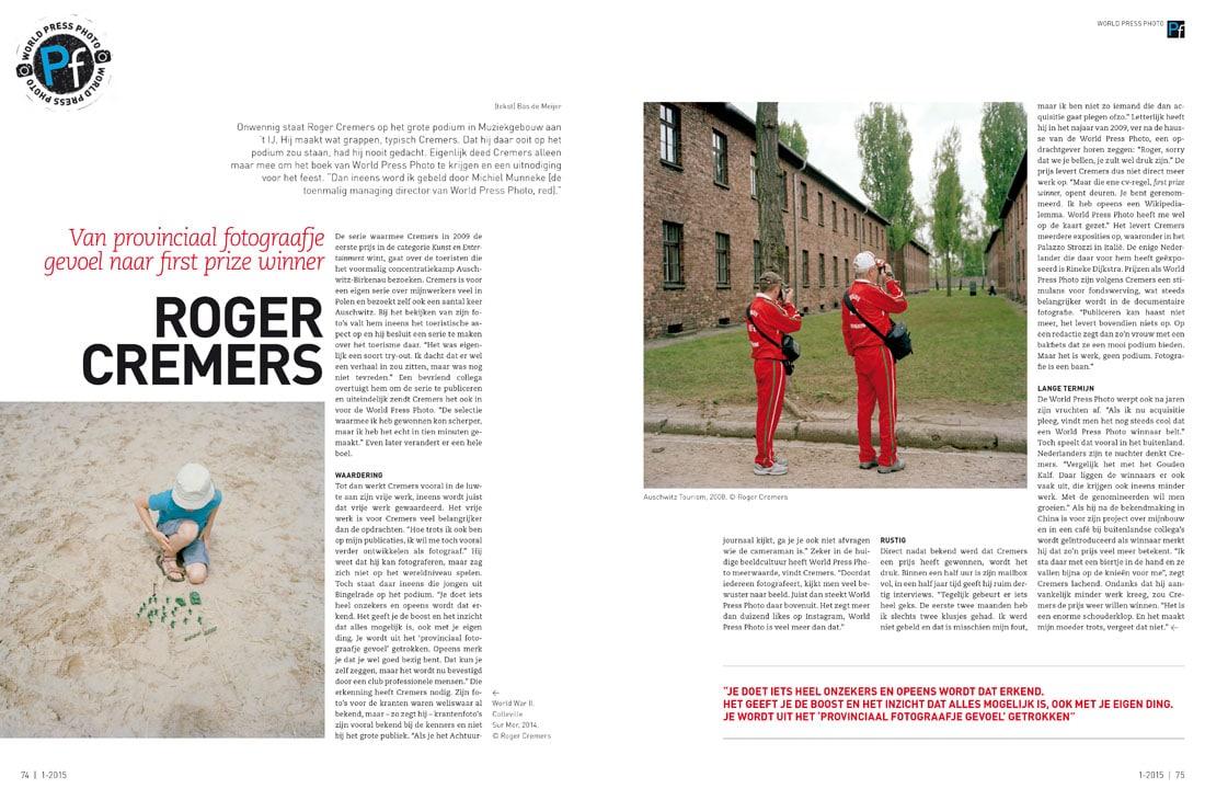 Interview pf magzine Bas de Meijer met Roger Cremers