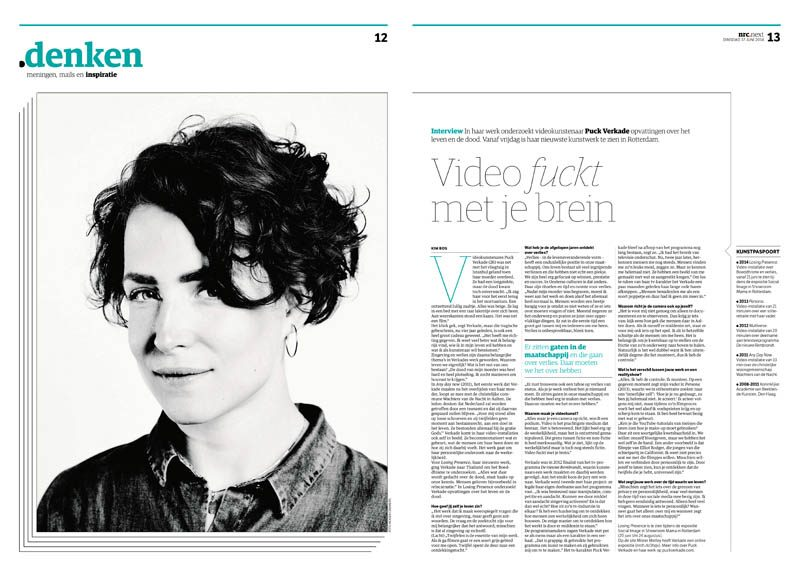 Puck Verkade by Roger Cremers in nrc next