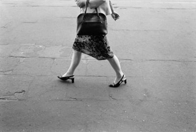 Photo and Copyright Roger Cremers april 2002 Beautiful en elegant woman legs on high heels in the streets on the Rynek in Katowice Poland