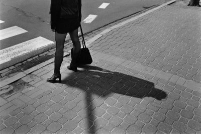 Photo and Copyright Roger Cremers 30.04.2002 Beautiful en elegant woman legs on high heels in the streets on Krolewska street Warsaw, Poland