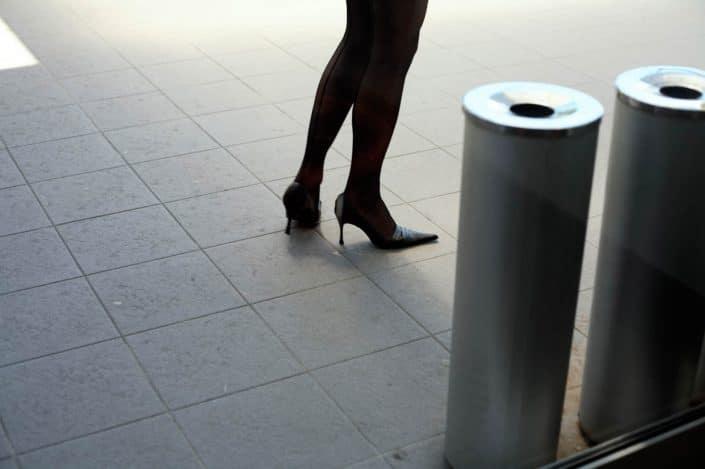 Slowakije, Trnava, 10-06-2006 Beautiful en elegant woman legs on high heels in Trnava. PHOTO AND COPYRIGHT ROGER CREMERS