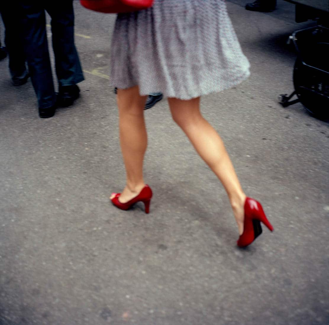 Verenigde Staten van Amerika, New York, 16-10-2008 Beautiful and elegant woman legs on red high heel shoes in New York PHOTO AND COPYRIGHT ROGER CREMERS
