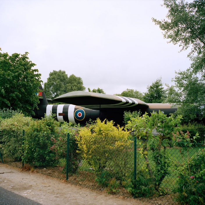 Frankrijk, Ranville, 04-06-2012 Memorial Pegasus A replica of a Horsa Glider in the museum PHOTO AND COPYRIGHT ROGER CREMERS