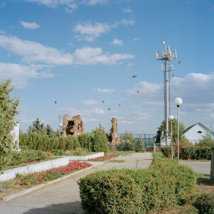 "Russia, Volgograd, 02-09-2013 Former Field Headquarters 138th Rifle Brigade The 138th Rifle Brigade held a piece of city between 17 October and 21 December 1942 of 700 meters wide and 400 meters deep. This area became known as Lyudnikov's Island. General I. Lyudnikov was commander of this division and had his headquarters in this half-destroyed building. A memorial stone has been erected in front of the ruins and contains the following text: ""In this house, the headquarters of the 138th Red Banner-rifle Division was located."" PHOTO AND COPYRIGHT ROGER CREMERS"
