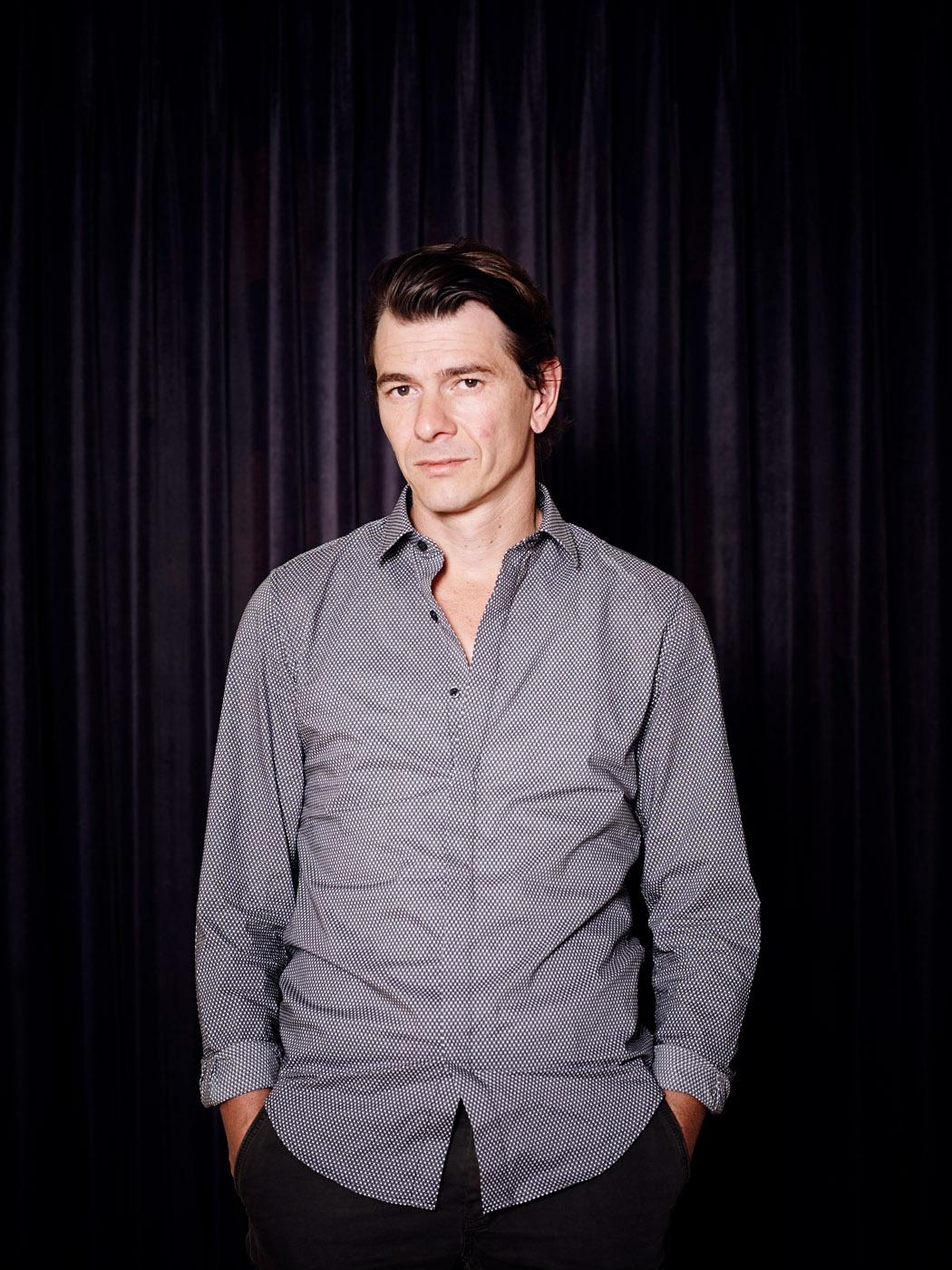 Nederland, Amsterdam, 02-09-2014 Dimitri Verhulst, Belgisch schrijver en dichter. PHOTO AND COPYRIGHT ROGER CREMERS