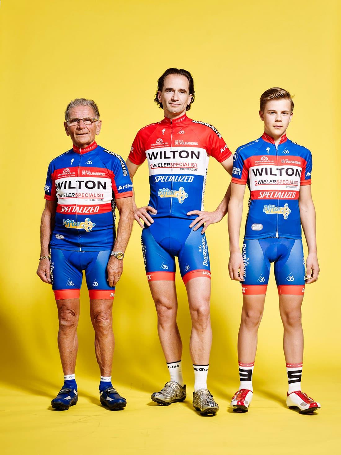 Wielrenners van de Volharding Utrecht Theo Boere (80, Nieuwegein) Allard Epping (42, Utrecht) Casper van Uden (13, Schiedam) PHOTO AND COPYRIGHT ROGER CREMERS