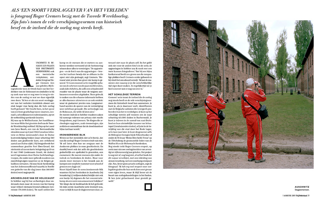 Fotodoc over ww2 door Roger Cremers in Vrij Nederland