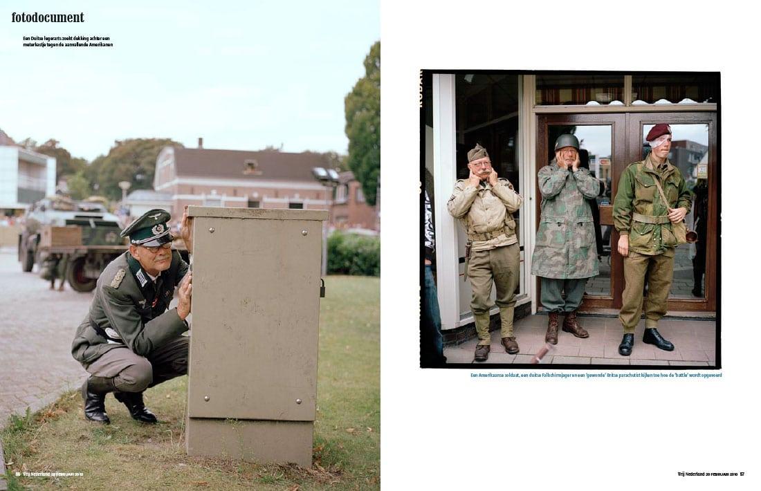 Reenactment serie in Vrij Nederland door Roger Cremers