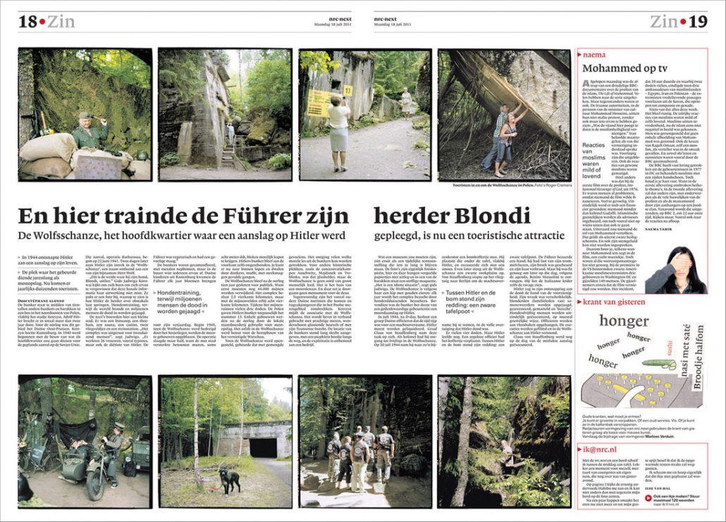Poland, Gierloz, 28-05-2011 De Wolfsschanze was een hoofdkwartier van Adolf Hitler tijdens de Tweede Wereldoorlog. Naast de Führerbunker bevonden zich in het complex ook gebouwen voor andere nazi-kopstukken, de lijfwachten van de Führer en eventuele gasten. Op de parkeerplaats van het bunker complex kunnen mensen zich verkleden als Duitse militairen en zich met oorlog attributen laten fotograferen PHOTO AND COPYRIGHT ROGER CREMERS