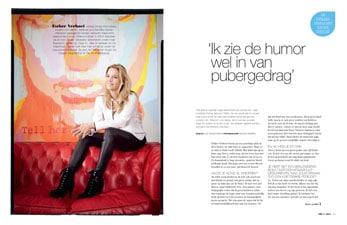 Ester verhoef opvoedregels in JM Magazine