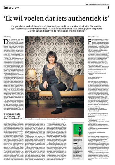Kira Wuck in NRC Handelsblad by Roger Cremers 2012