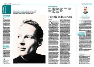 Daan Roosegaarde in NRC next by Roger Cremers