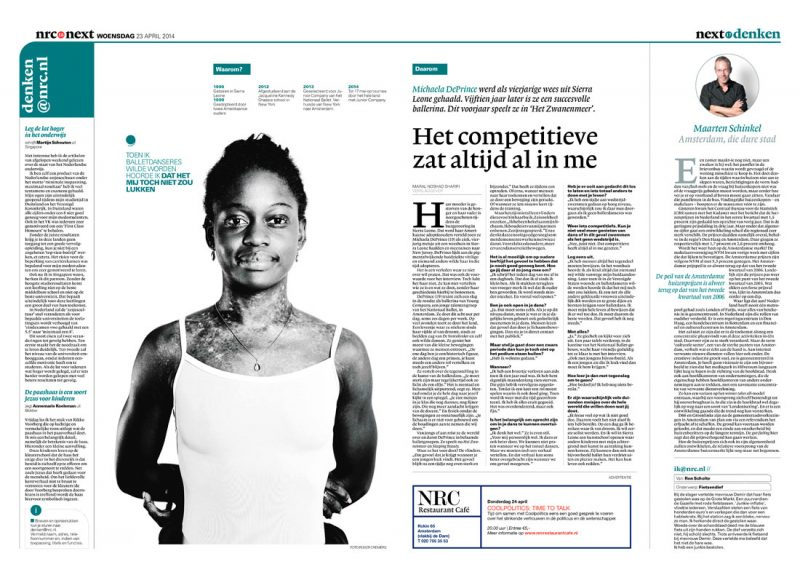 Dancer Michaela DePrince in NRC Next by Roger Cremers 2014