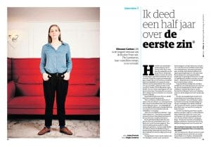 Eleanor Catton in nrc next by Roger Cremers 2014