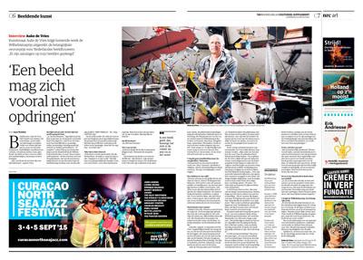 Nederland, Den Haag, 10-08-2015 Auke de Vries, Nederlandse beeldhouwer en tekenaar. PHOTO AND COPYRIGHT ROGER CREMERS