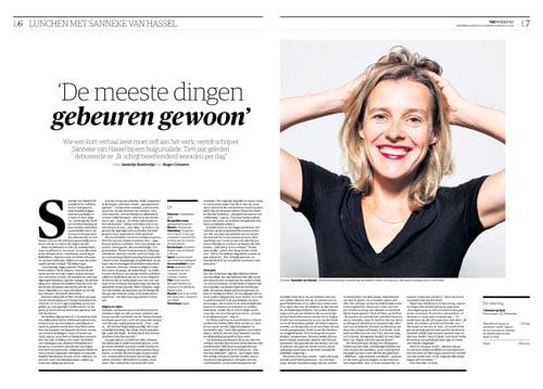 Sanneke van Hassel in NRC Handelsblad by Roger Cremers 2015