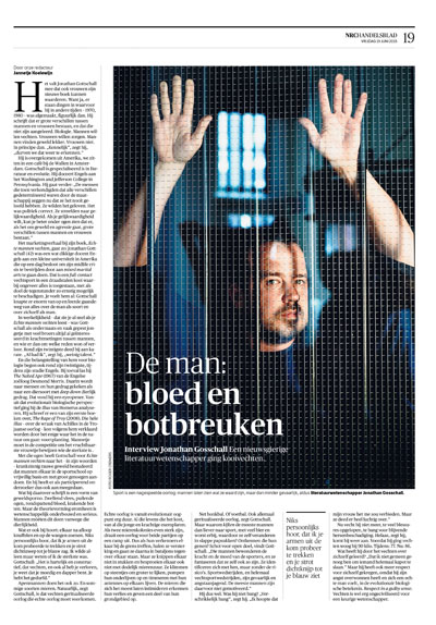 Jonathan Gosschall in NRC Handelsblad by Roger Cremers