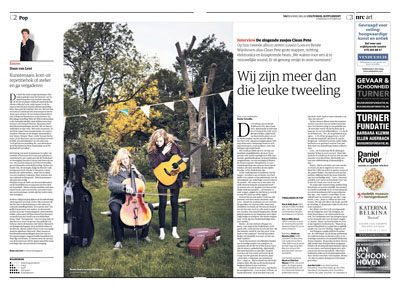 Clean Pete in NRC Handelsblad Cultureel Supplement by Roger Cremers 2015