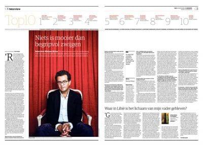 Hisham Matar in NRC Handelsblad 2016 by Roger Cremers